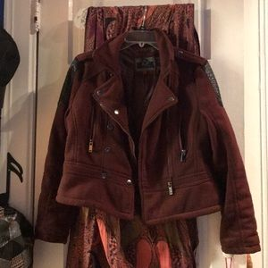 Large Dollhouse Red Zip-Up Jacket